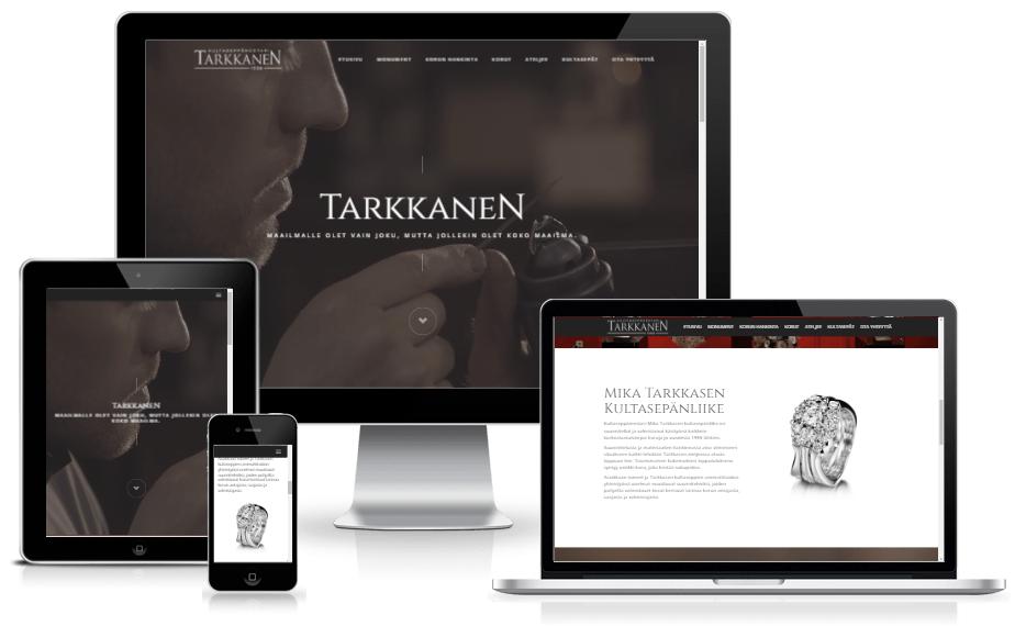 Verkkosivut ja henkilökuvaus - Kultaseppä Tarkkanen - Valolink Oy ... 6d160fde58